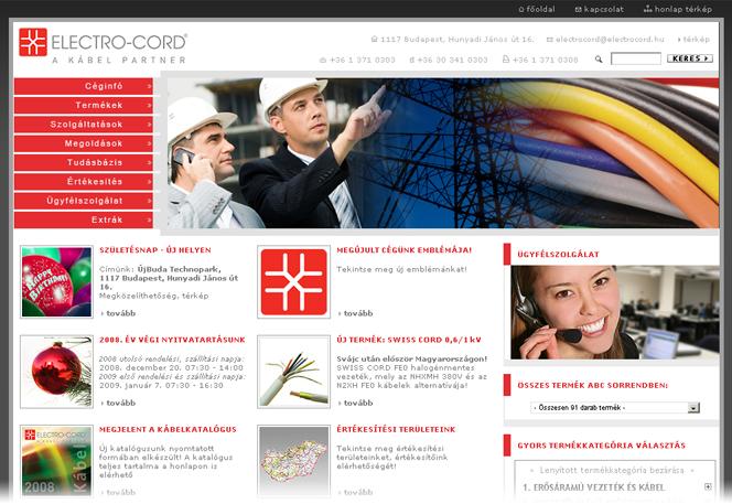 Kábel, vezeték kereskedelem: Electro-Cord Kft